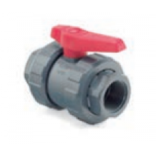 Válvula de Bola PVC Doble Unión Americana a Soldar