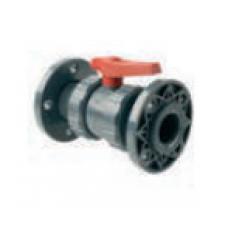 Válvula de Bola PVC Doble Unión Americana c/Brida