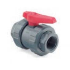 Válvula de Bola PVC Doble Unión Americana Hilo