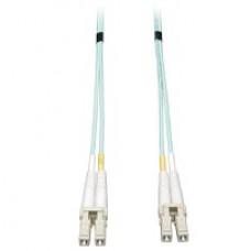 Cable Patch de Fibra Dplex Multimodo 50 - 125 OM3 LSZH de 10Gb LC - LC de 1M 3 pies Aguamarin - Tripplite