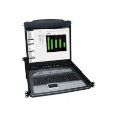 "KVM 16 Rack 1U 16P LCD 19""+8 Cab.PS2 - USB - Tripplite"