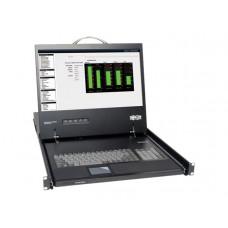 """Consola 1U de Rack con LCD 19"""" conecta a KVM o Server - Tripplite"""